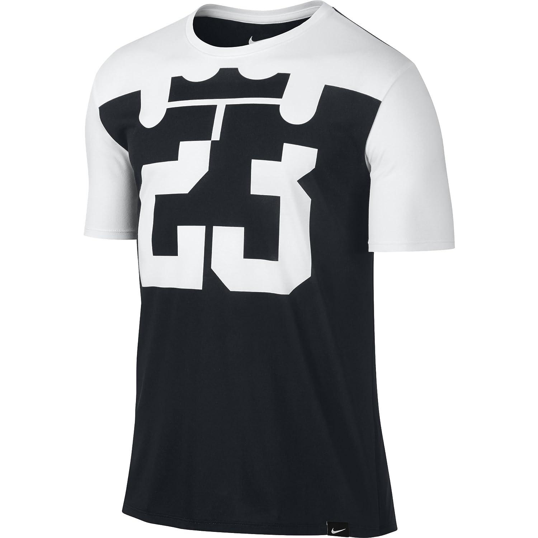 free shipping 1830e 1b8e3 Nike Mens Lebron Split 23 Dri-Fit Shirt White/Black King ...