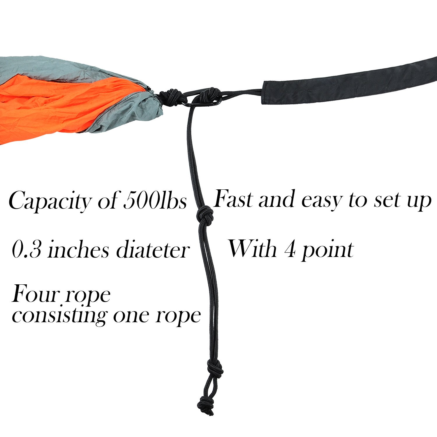 Double Single Camping Hammock Lightweight Image 3