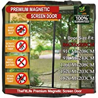 TheFitLife Magnetic Screen Door - Heavy Duty Mesh Curtain with Full Frame Hook and Loop Powerful Magnets That Snap Shut…