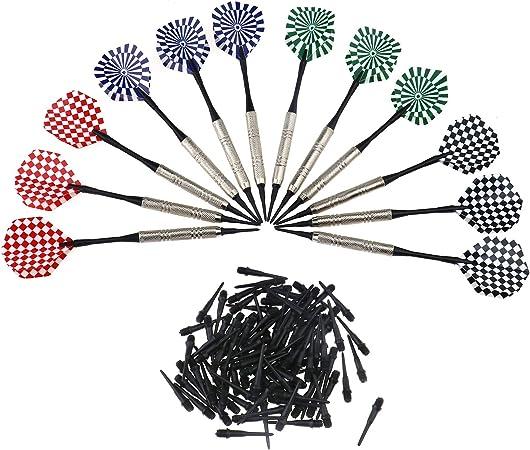 OTOTEC Plumas de Dardos y Dardos con Punta de plástico y 100 Puntas de Dardos Extra Suaves de Repuesto para Diana electrónica: Amazon.es: Hogar