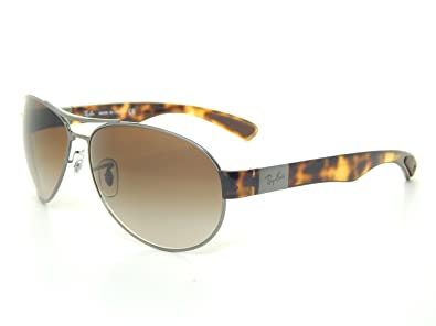 rb3509  Amazon.com: New Ray Ban RB3509 004/13 Gunmetal/Brown Gradient Lens ...