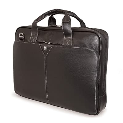 "60%OFF Mobile Edge Deluxe Leather 15.4"" Laptop Briefcase, Computer Business Case, Black"