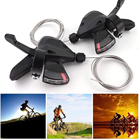 SL-M370 3//8//9//24//27 Speed MTB Mountain Bike Thumb Gear Shift Lever Set