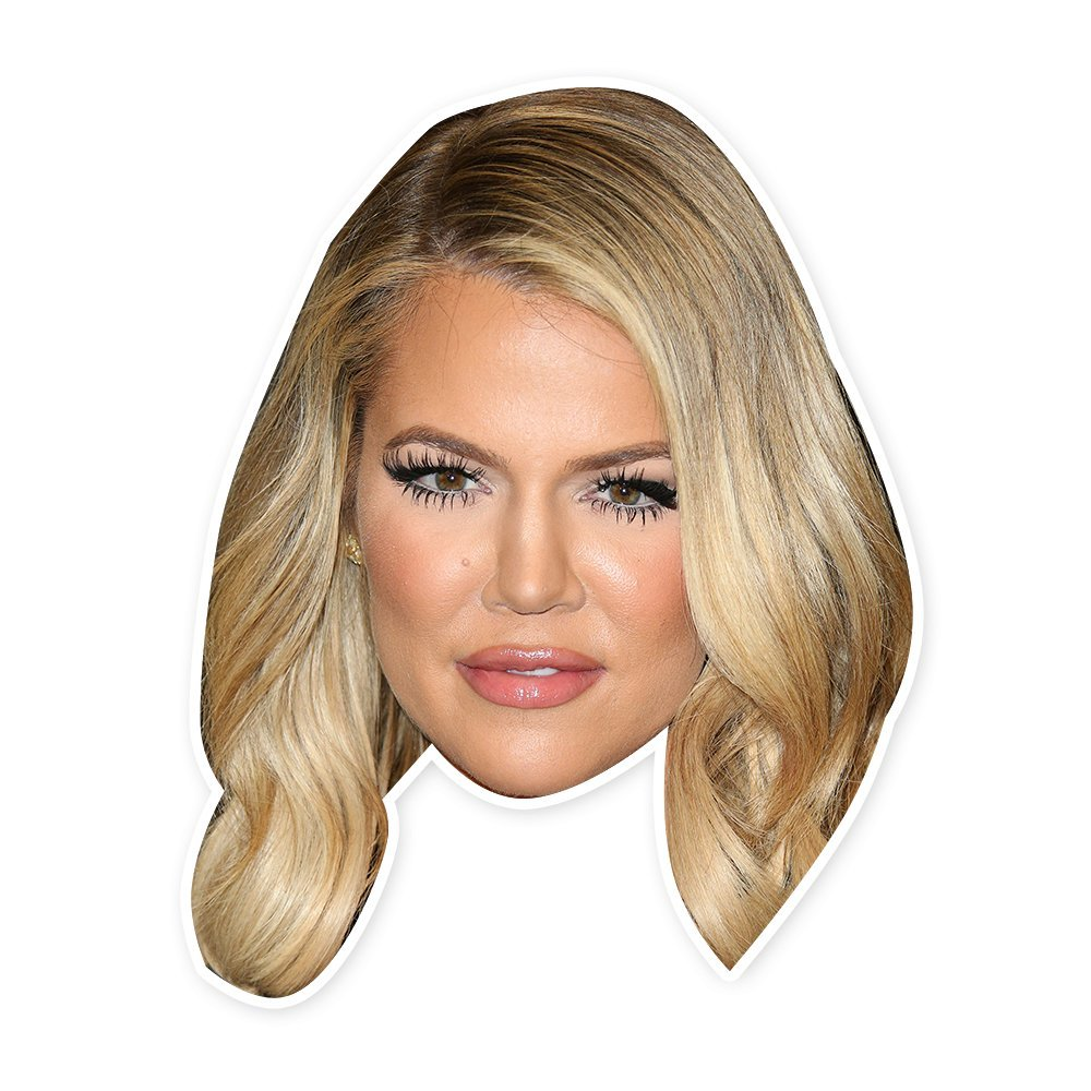 Happy Khloe Kardashian Mask - Perfect for Halloween, Masquerade, Parties, Events, Concerts - Jumbo Size Waterproof