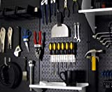 Wall Control 30-P-3232B Black Metal Pegboard Pack