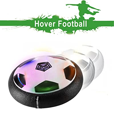 Air Hover Ball with Powerful LED Light Size 4 Boys Girls Sport Children Toys Training Football for Indoor or Outdoor with Parents Game for All Kids: Sports & Outdoors