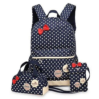 Lightweight Kids Book Bag School Backpack Handbag Purse Girls Teen 3pcs/set durable modeling