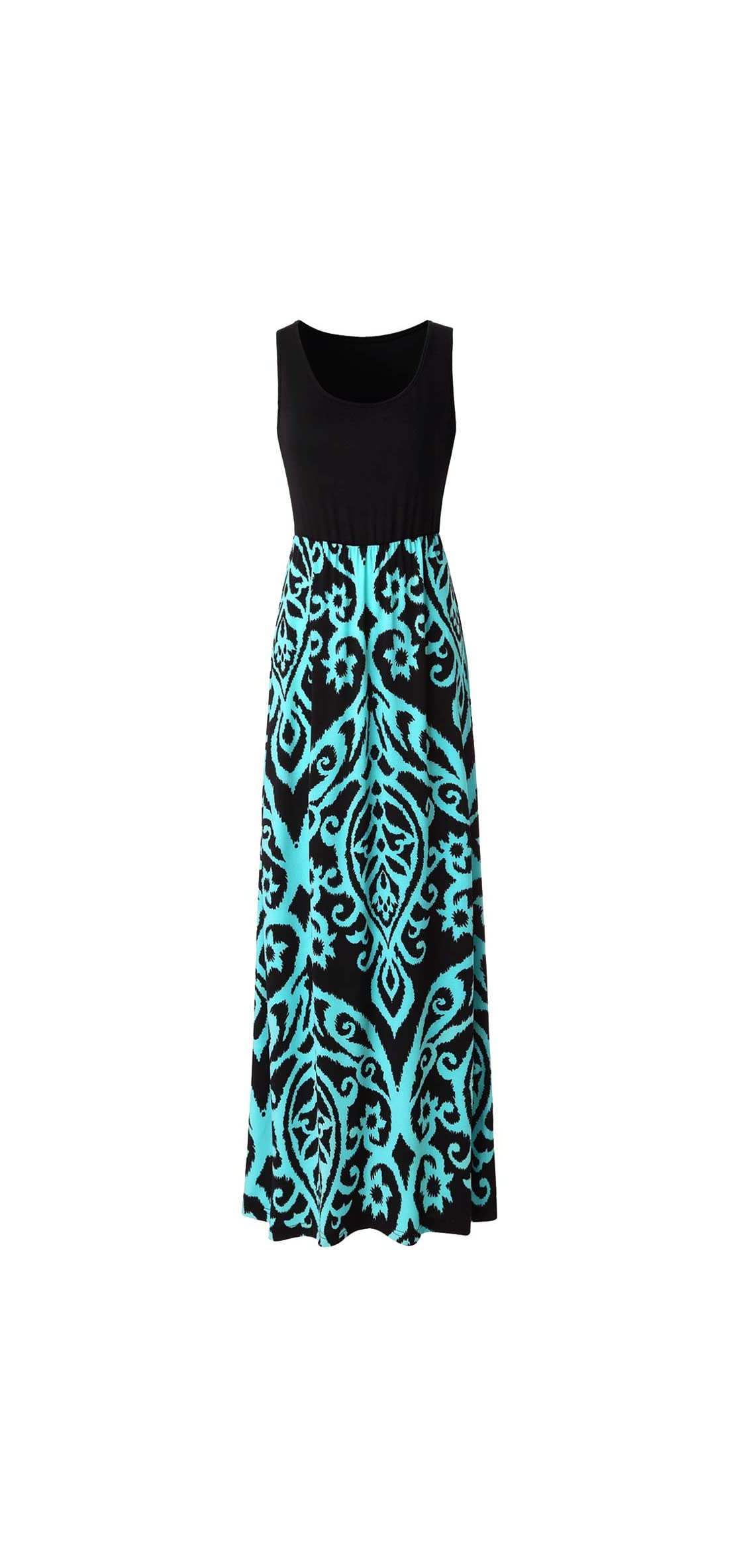 Womens Summer Contrast Sleeveless Tank Top Floral Print