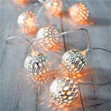 Amazon Price History for:LED Globe String Lights,Goodia Battery Operated 10.49Ft 30er Silver Moroccan Lamp for Indoor,Bedroom,Curtain,Patio,Lawn,Landscape,Fairy Garden,Home,Wedding,Holiday,Christmas Tree,Party (Warm White)