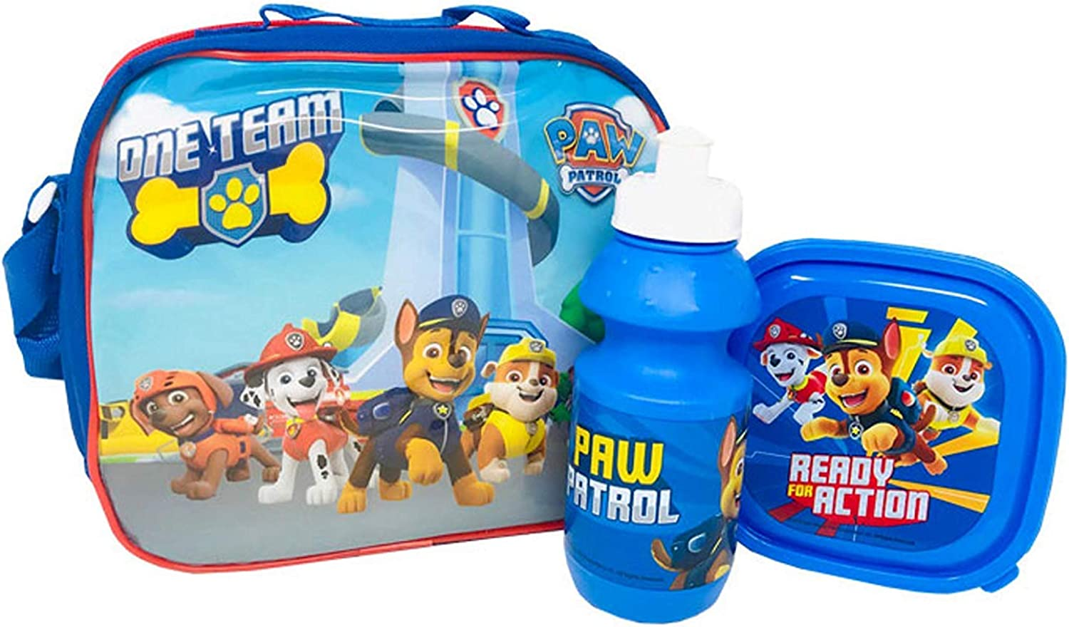 Paw Patrol Lunch Bag Kids 3 Piece Thermal School Lunch Set With Bottle 4160-9174