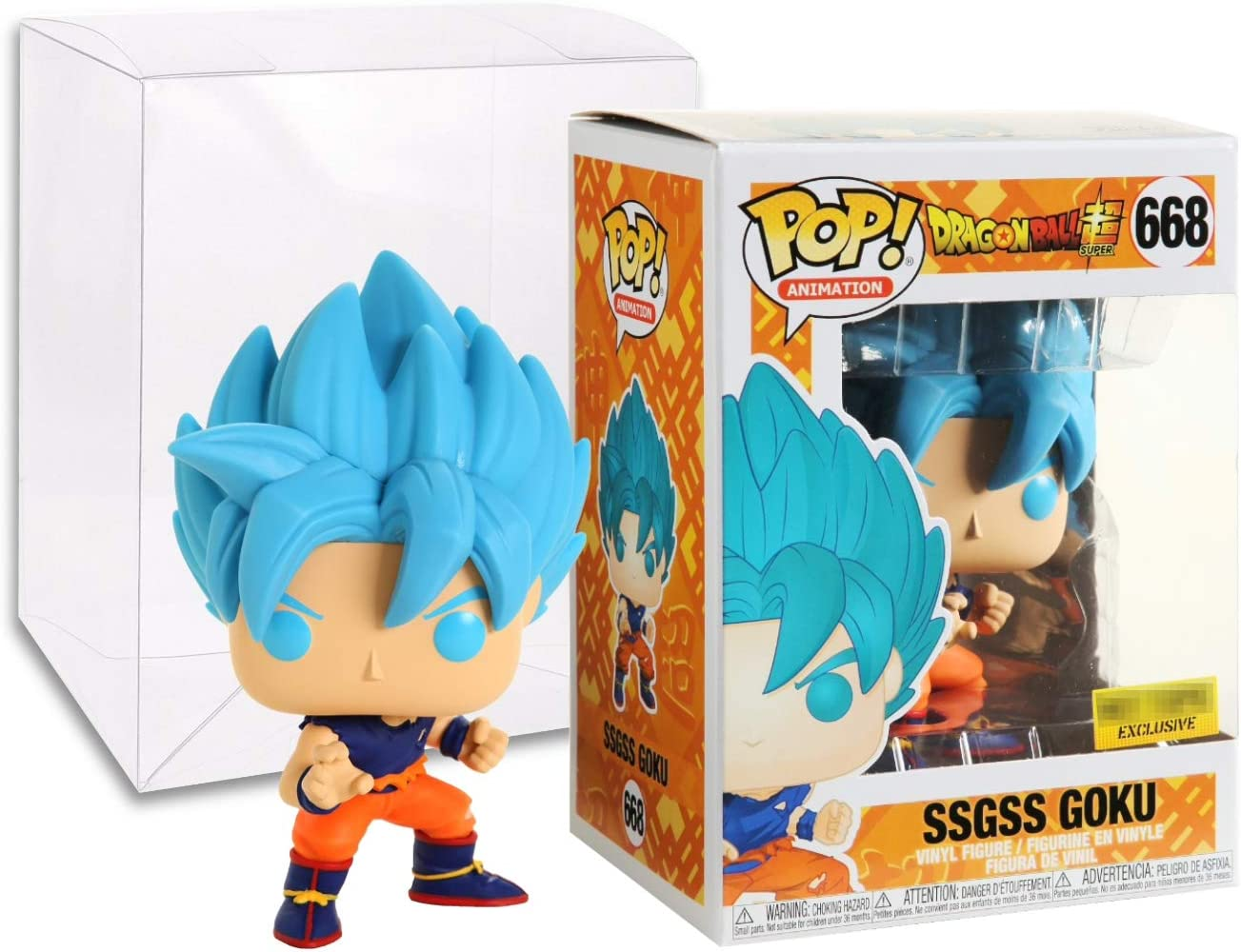Dragon Ball Super SSGSS Goku US Exclusive Pop Vinyl Vinyl POP