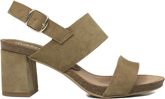 MiMaO - Zapatos Sandalias de Piel Fabricadas en España. Cómodo. Sandalias de Plataforma para Mujer. Sandalias de tacón Alto y Ancho orgánico, Beige (Beige), 39 EU: Amazon.es: Zapatos y complementos