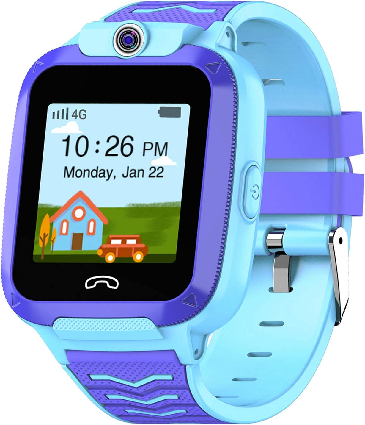 UOTO 4G Kids Smartwatch Phone, WiFi LBS GPS Tracker Watch Waterproof for Boys Girls with Pedometer/Remote monitoring/FaceTalk/2-way Call/SOS, Kids ...