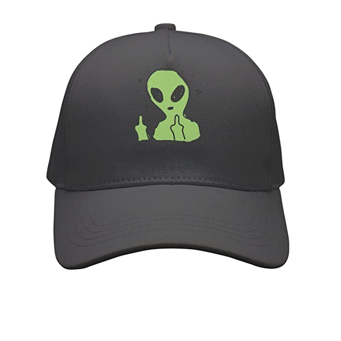 4b6c153f179 OKSDLK Alien Middle Finger I Am Outta Here Snapback Hats Visor Hats Black