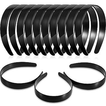 White Craft Plastic Headbands 1 Inch Plain No Teeth DIY Hair Bands Plain 20