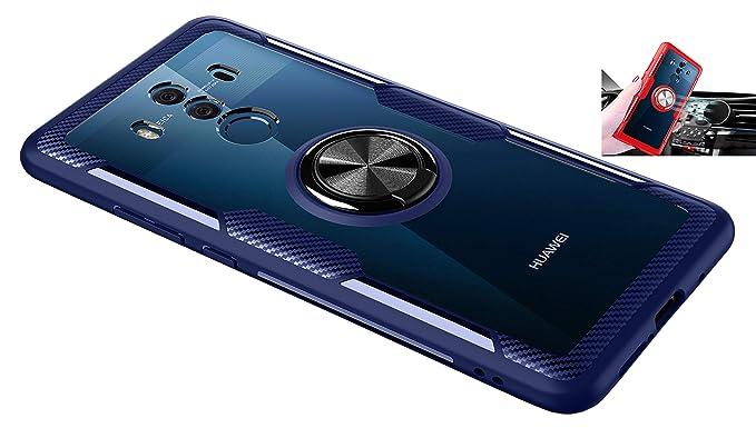 Amazon.com: Huawei Mate 10 Funda Transparente, Anillo ...