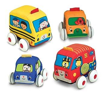 melissa doug ks kids pull back vehicle set soft baby toy set with