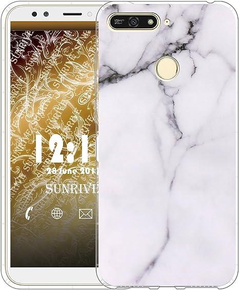 Sunrive Cover per Honor 7 a PRO/Honor 7A, Custodia Case in Molle Trasparente Silicone Morbida Flessibile AntiGraffio Protettiva Cuscino d'Aria Back ...
