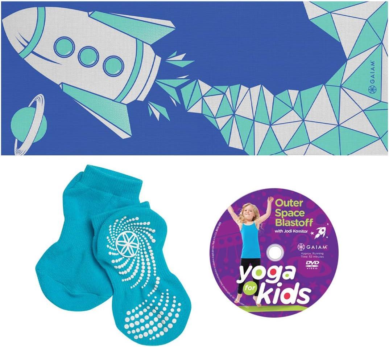 Blue Gaiam Kids Yoga Kit