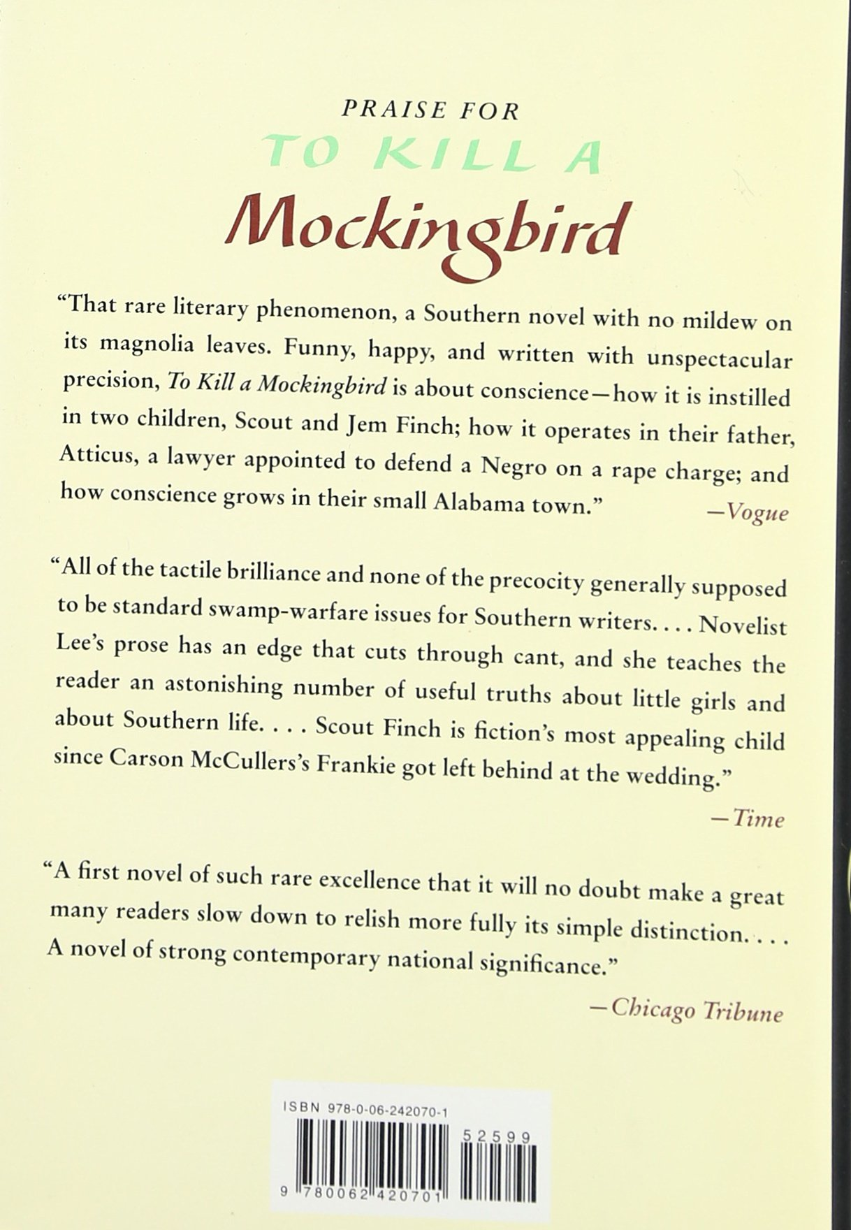 first page of to kill a mockingbird