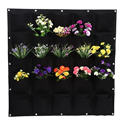 Amazon.com: Maceta de pared, 25 bolsillos Planting Bag ...
