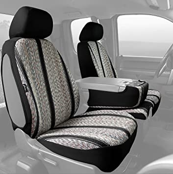 Saddle Blanket, Black Fia TR48-32 BLACK Custom Fit Front Seat Cover Bucket Seats