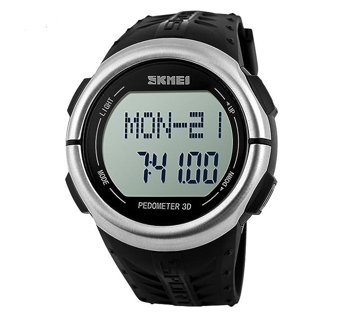 Reloj Pulsometro Podometro Ritmo Cardiaco Calorias Running Natacion Ciclismo Sky Deporte 4246: Amazon.es: Relojes