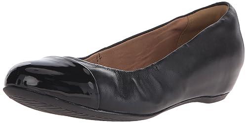 b6c00eb0cd Clarks Women's Alitay Susan Ballerina Shoe, Black Leather, ...
