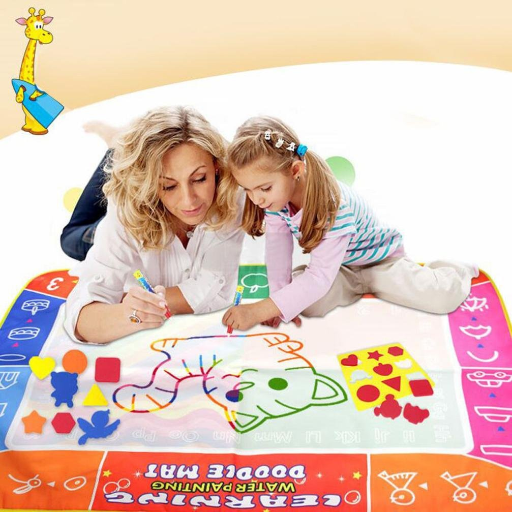 Winkey Toy for 3 4 5 6 7 8 9 + Years Old Kids Girls Boys, Water Drawing Painting Writing Mat Board Magic Pen Doodle Gift 120*90cm,Best Education Toy Gift