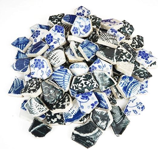 Lanyani Gemischte Keramikfliesen in lebendigen Farben f/ür Handwerk Mosaik polierte Porzellanfliesen 28 x 27,9 cm