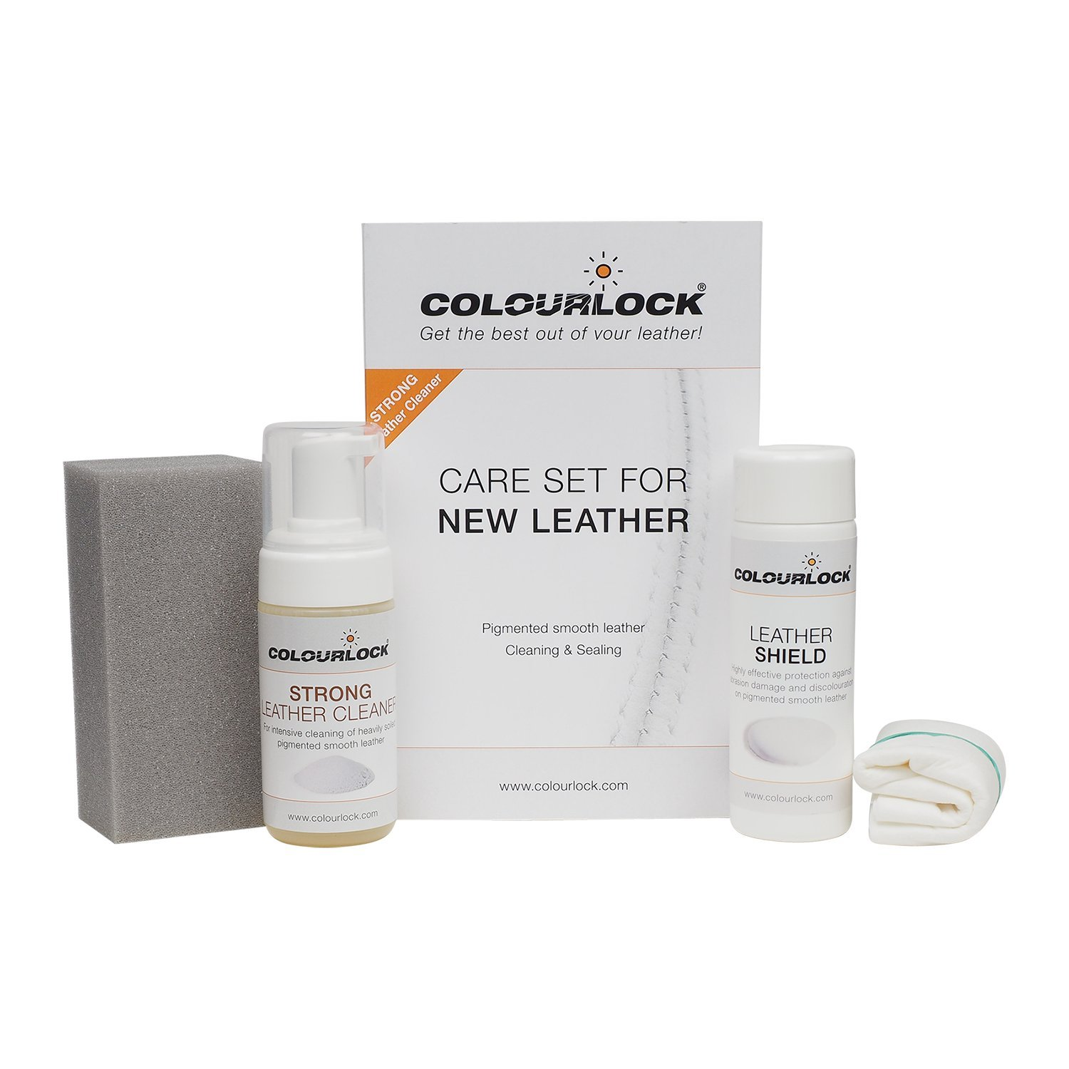 Colourlock Leather Shield Kit - Strong Cleaner & Leather Shield for Cleaning and Protection Against dye transfers on Furniture, Jackets, Handbags & Protection Against Scuffs on car Seats (Regular) by Colourlock