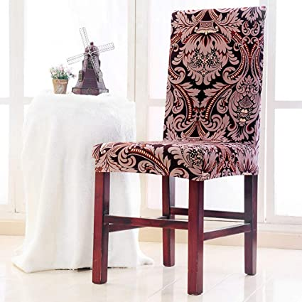 Prime Amazon Com Shanyt Chair Cover Flower Print Ruffled Chair Short Links Chair Design For Home Short Linksinfo