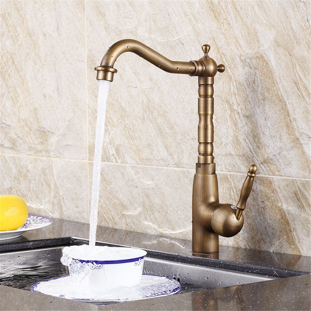 D Lpophy Bathroom Sink Mixer Taps Faucet Bath Waterfall Cold and Hot Water Tap for Washroom Bathroom and Kitchen Antique Copper Hot and Cold Copper Can Be redated A