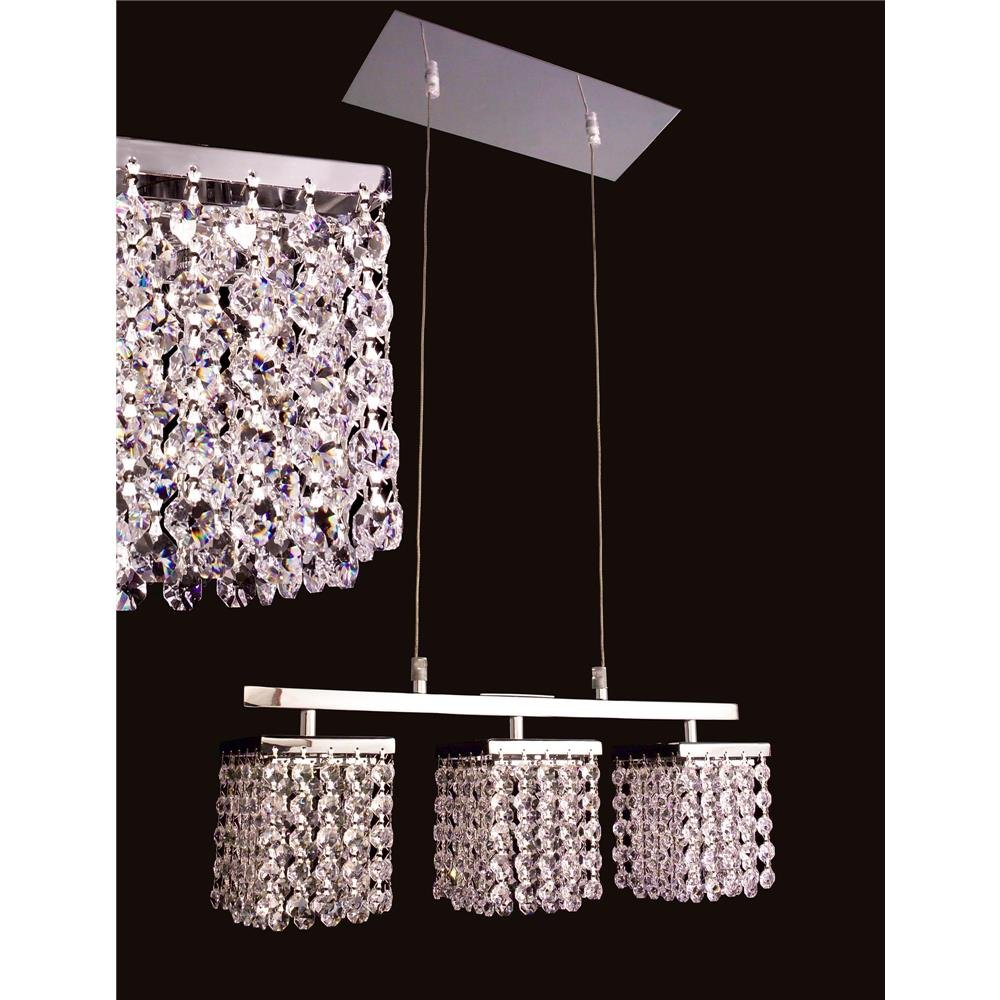 Classic Lighting 16103 CP-SMK Bedazzle Linear Chandelier