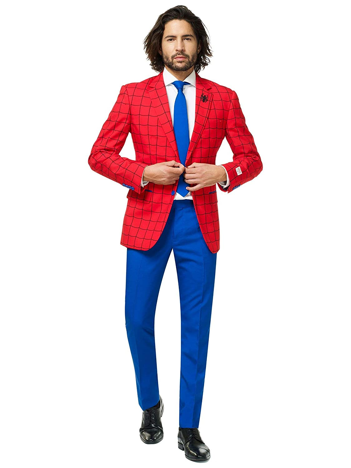 OppoSuits Official Marvel Comics Hero Suits Infinity War Avengers Costume Comes with Pants Jacket And Tie