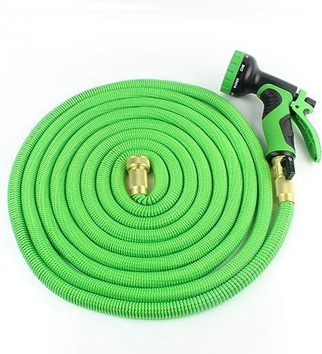 QWER Manguera de jardín Flexible de 50 pies Manguera de Agua expandible Tubería de riego Juego