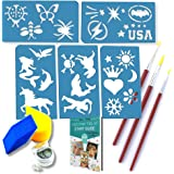 24 Foolproof Reusable Pliable Face & Body Paint Stencils - No Art Skills Required - For Kids Ages 2.5 Upwards