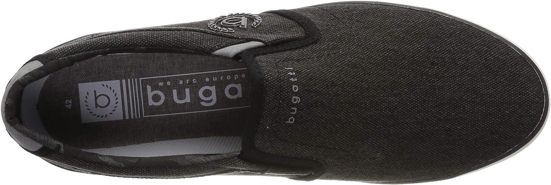 Bugatti 321502646900, Baskets Enfiler Homme Noir Schwarz 1000