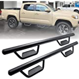 Running Boards Side Step Nerf Bars Hoop Bar for 2005-2021 Toyota Tacoma Double Cab/Crew Cab with 4 Full Size Door (Driver and