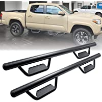 Running Boards Side Step Nerf Bars Hoop Bar for 2005-2021 Toyota Tacoma Double Cab/Crew Cab with 4 Full Size Door…