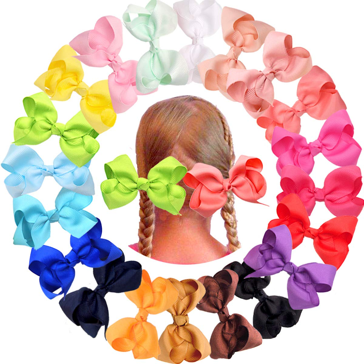 Kind-Hearted 1 Hair Clip Bow Girls Baby Kids Accessories Snap Alligator Slides Weddind Bridal Cool In Summer And Warm In Winter Hair Accessories