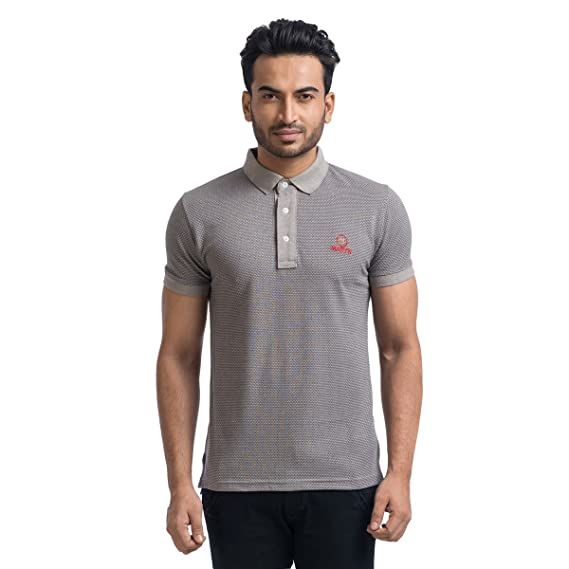 0565b03e08eaf0 MABYN Polo Neck T-Shirt for Men or Women Multi-Color Grey Size - XL  Amazon. in  Clothing   Accessories
