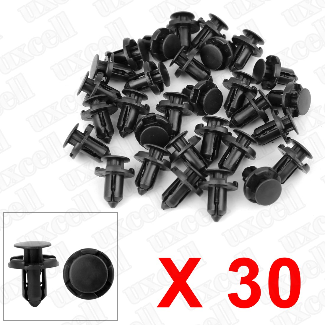 uxcell/® Retainer Clips Fasteners Bumper Fender 9mm Hole 50 Pcs