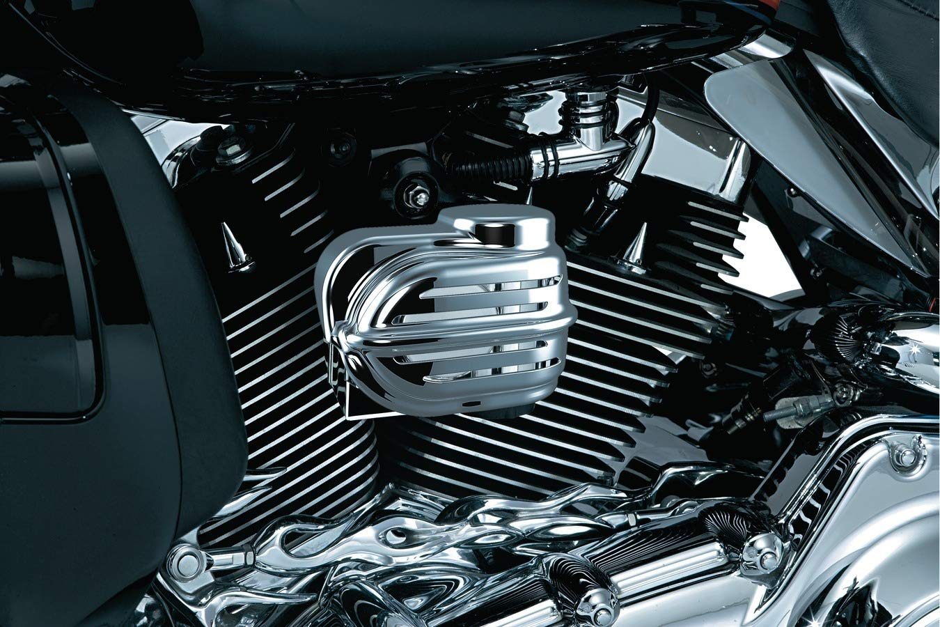 Kuryakyn Air Horn Kits Wolo Bad Boy Compatible for Harley-Davidson Motorcycle - Chrome by Kuryakyn
