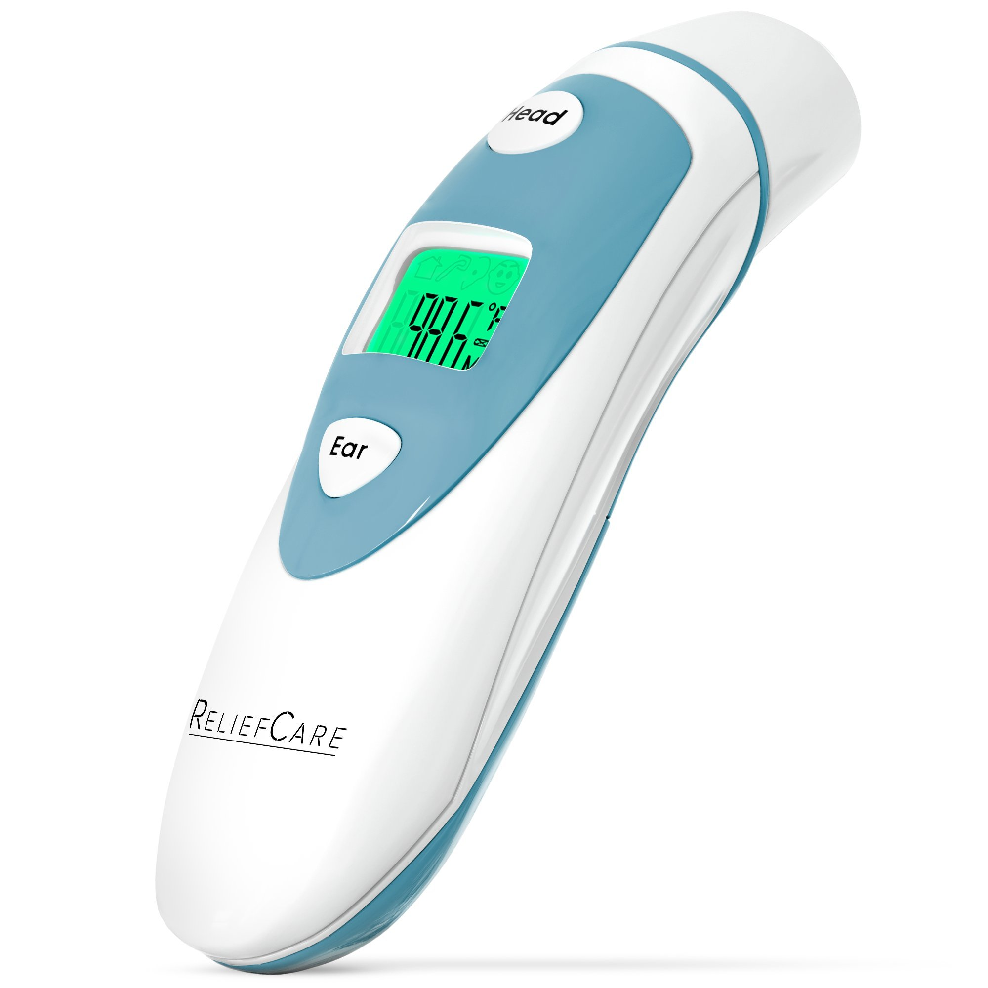 Digital Forehead and Ear Infrared Thermometer: Dual Mode Thermometer with Fever Alarm - Accurate Quick Read Temperature Thermometers for a Baby, Infant, Toddler, Child or Adult - FDA and CE Approved