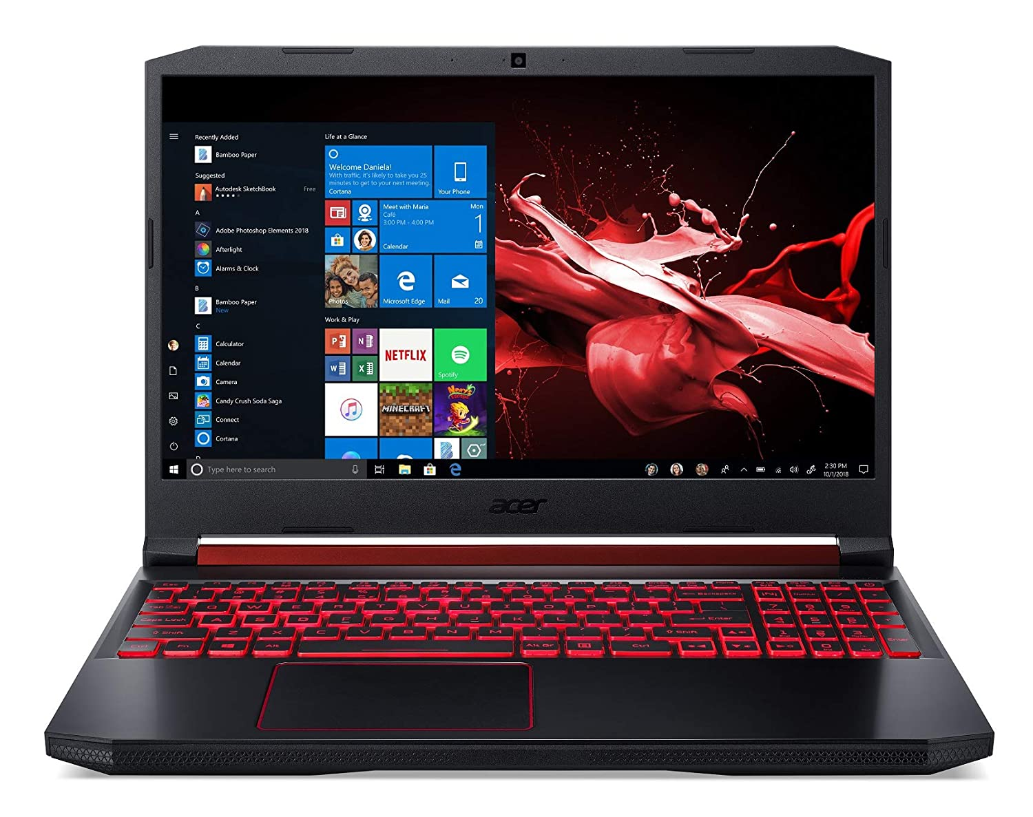 Acer Nitro 5 Intel Core i5-9300H 15.6-inch Full HD 1920 x 1080 Display Thin and Light Gaming Laptop (8GB/1TB+256GB SSD/Windows 10 Home/GTX 1650 Graphics/Obsidian Black/2.3 kgs),AN515-54
