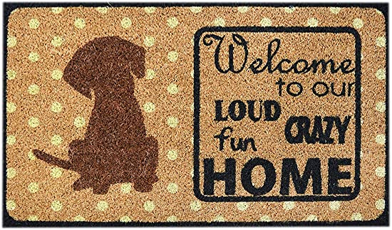 Ninamar Natural Coir Welcome Door Mat 29.5 x 17.5 inch