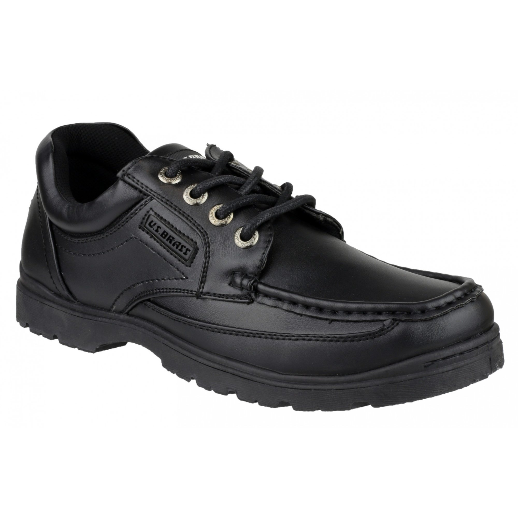 US Brass Stubby 3 Lace Up Shoe/Mens Shoes (10 US) (Black)