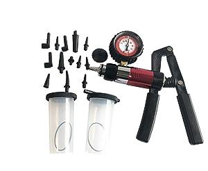 GooMeng Handheld Vacuum Pump Set Tester, Brake Bleeder Test Tool Set, Vacuum Pressure Pump Kit