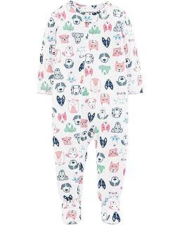 4c0e277ca76b Carter s Baby Girls Microfleece 1 Piece Pajamas